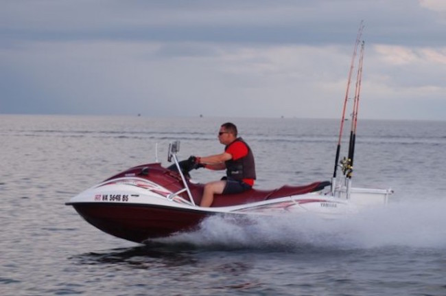 Quick tech rigging a jet ski for offshore fishing the for Best jet ski for fishing