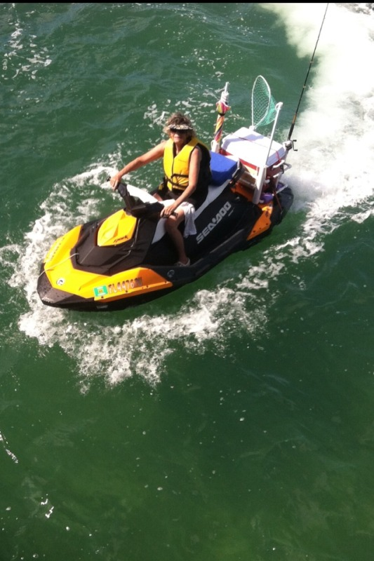 Video fishing from a sea doo spark the watercraft for Jet ski fishing setup