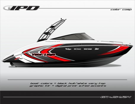 Ipd graphics introduces yamaha jet boat graphic kits for for Yamaha boat decals graphics