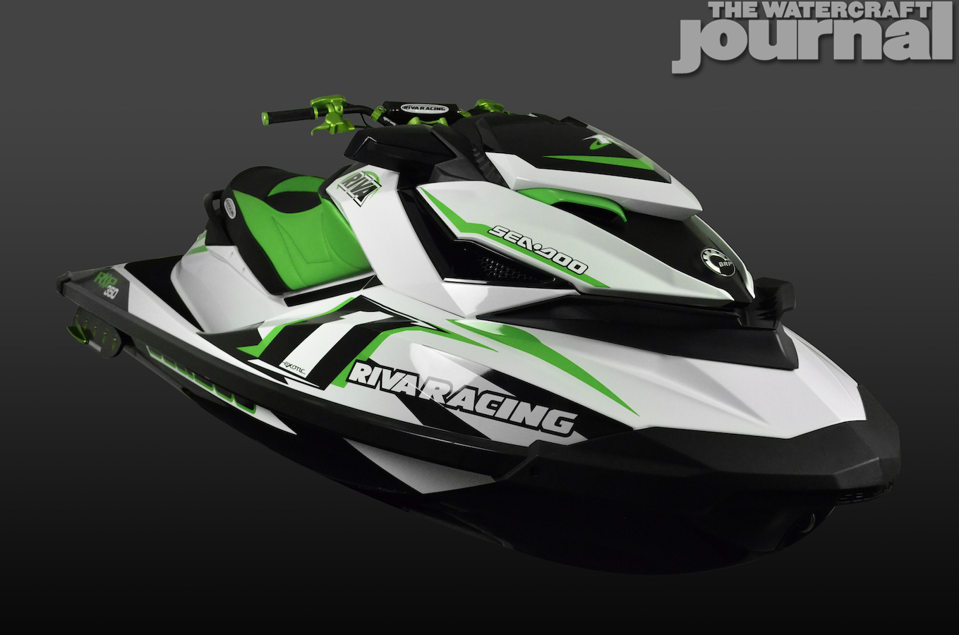 Green Seadoo RXP 45_degree