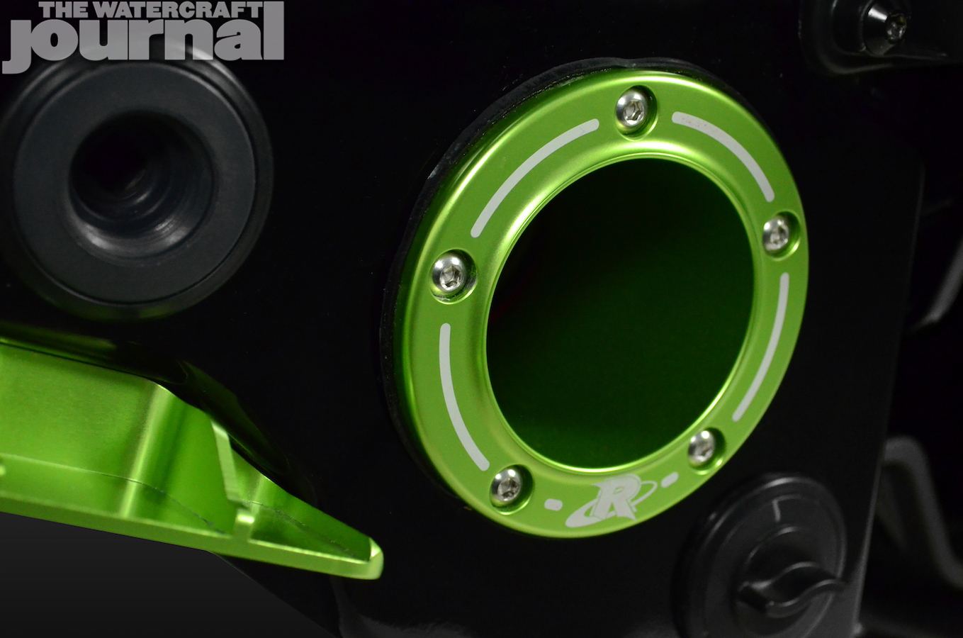 Green Seadoo RXP Exhaust tip