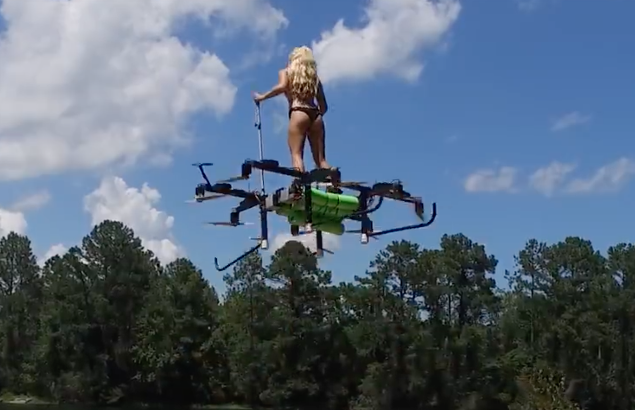 Video Flying High On A Mega Drone The Watercraft