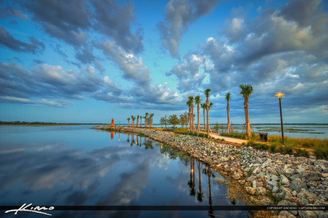 Lake Toho Lighthouse at Lakefront Park in Kissimmee Florida