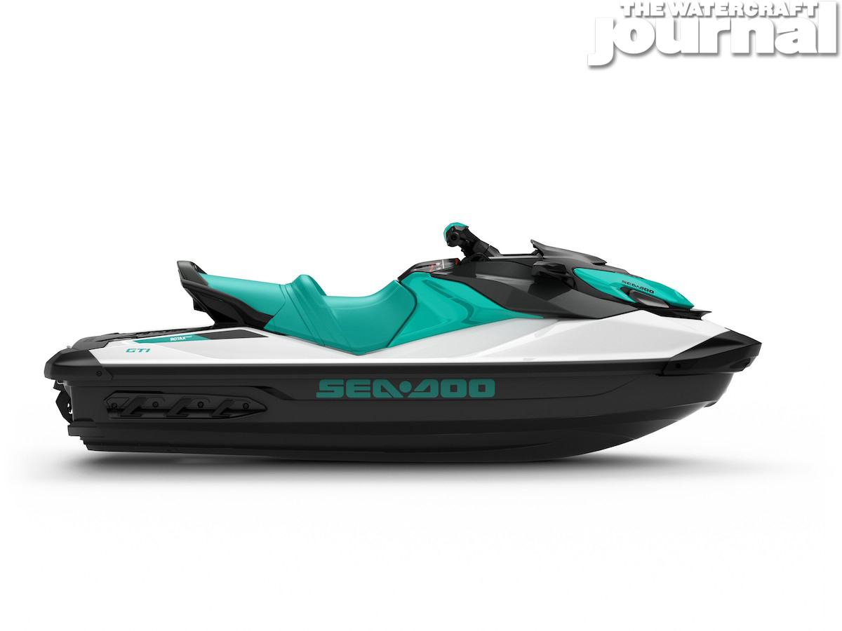 2020 Sea-Doo GTI 130 Reef Blue - Studio Profile