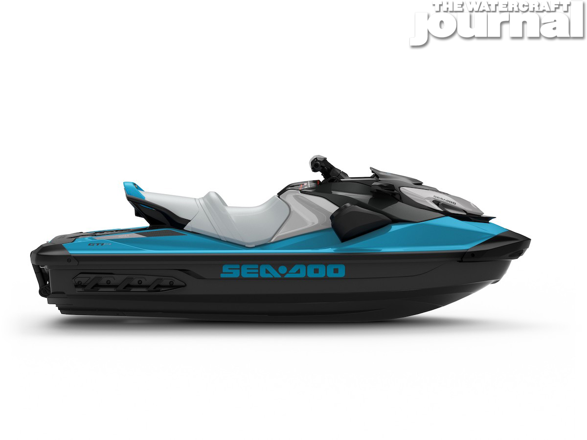 2020 Sea-Doo GTI SE 130 w-sound Beach Blue - Studio Profile