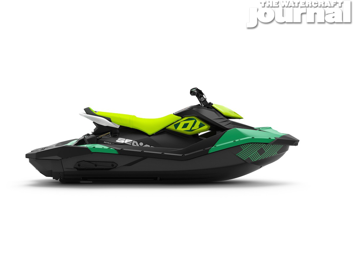 2020 Sea-Doo SPARK 3up TRIXX Jalapeno Pear Studio Profile