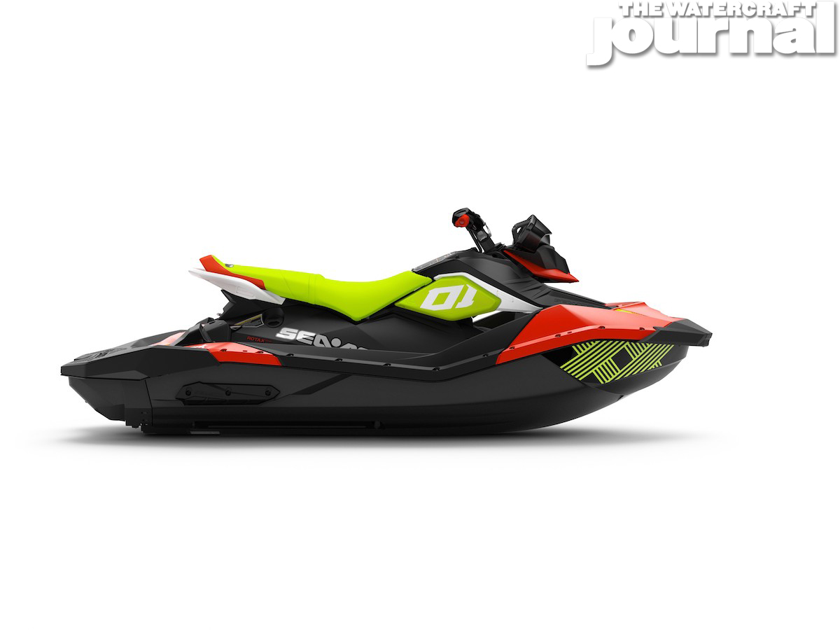 2020 Sea-Doo SPARK 3up TRIXX SS Chilii Pepper Pear Studio Profile