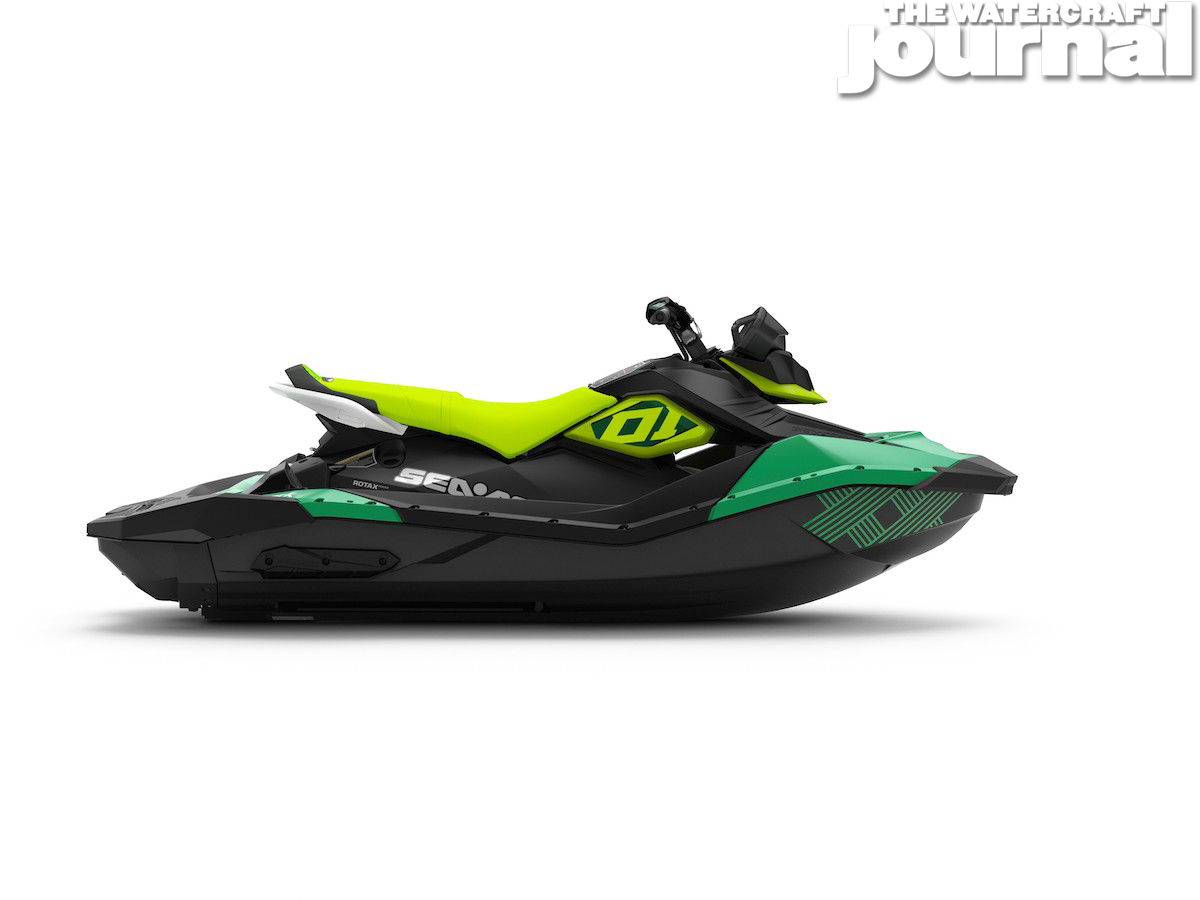 2020 Sea-Doo SPARK 3up TRIXX SS Jalapeno Pear Studio Profile