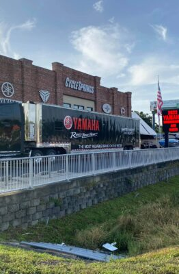 Yamaha Semi in Front of Cycle Springs Shop
